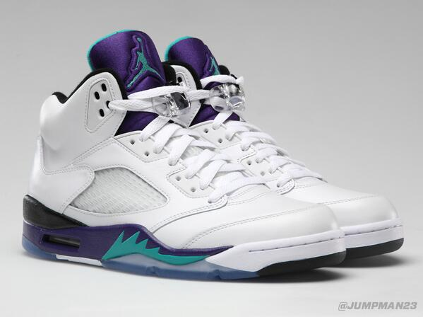 They only get better with age... Our 'Grape' Air Jordan 5 Retro drops this Saturday: http://t.co/7FBZNTjZme
