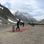 Cricket at 16,000 feet above sea level. New fan picture on #TheStands. http://t.co/bXI1SnELxs
