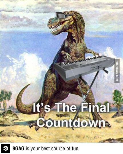 It's the final countdown... http://t.co/gG6cau22fL