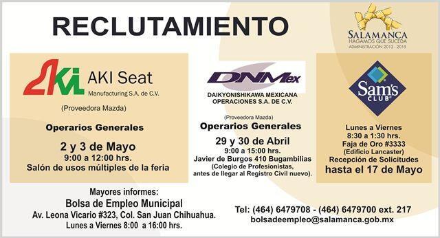 DaikyoNishikawa Mexicana continúa reclutando. #HagamosqueSuceda #Empleo @DesEconomicoSa http://t.co/o5uvf5KAMI