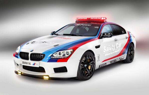 Have you been watching the #MotoGP? Have you spotted the BMW M6 Gran Coupé, the official safety car of the MotoGP? http://t.co/1kxoUEFxin