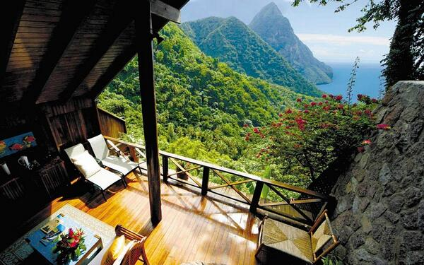 The 'Open Wall' Ladera Resort in St. Lucia http://t.co/t93PftIg23