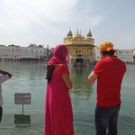 A few days ago at the #goldentemple ...  Team of @rangeelayfilm ...  @jimmysheirgill