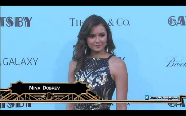 RT @TVDobssesed: Nina at the Great Gatsby premiere! She looks flawless. http://t.co/q9hhk3jU1z