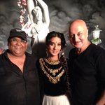With Satish & Mahi at Venus's launch of 'Gangs Of Ghosts' dir by friend Satish Kaushik. Unusual Script. Great role.:)