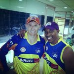 Both the caps now!!! Next the cup!!! #CSK @ChennaiIPL #whistlepodu