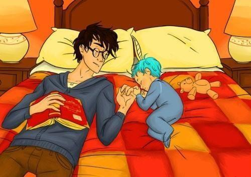 Although the Battle of Hogwarts left Teddy Lupin orphaned like Harry himself, at least one of them grew up loved. http://t.co/PVSW4tyyyS