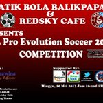RT @Jual_BatikBola: Ikuti dan saksikan PS3 PES 2013 COMPETITION @RedskyCafe | 26 Mei 2013 | 10-end | cp 085752144848 http://t.co/BSyq9p0Mln