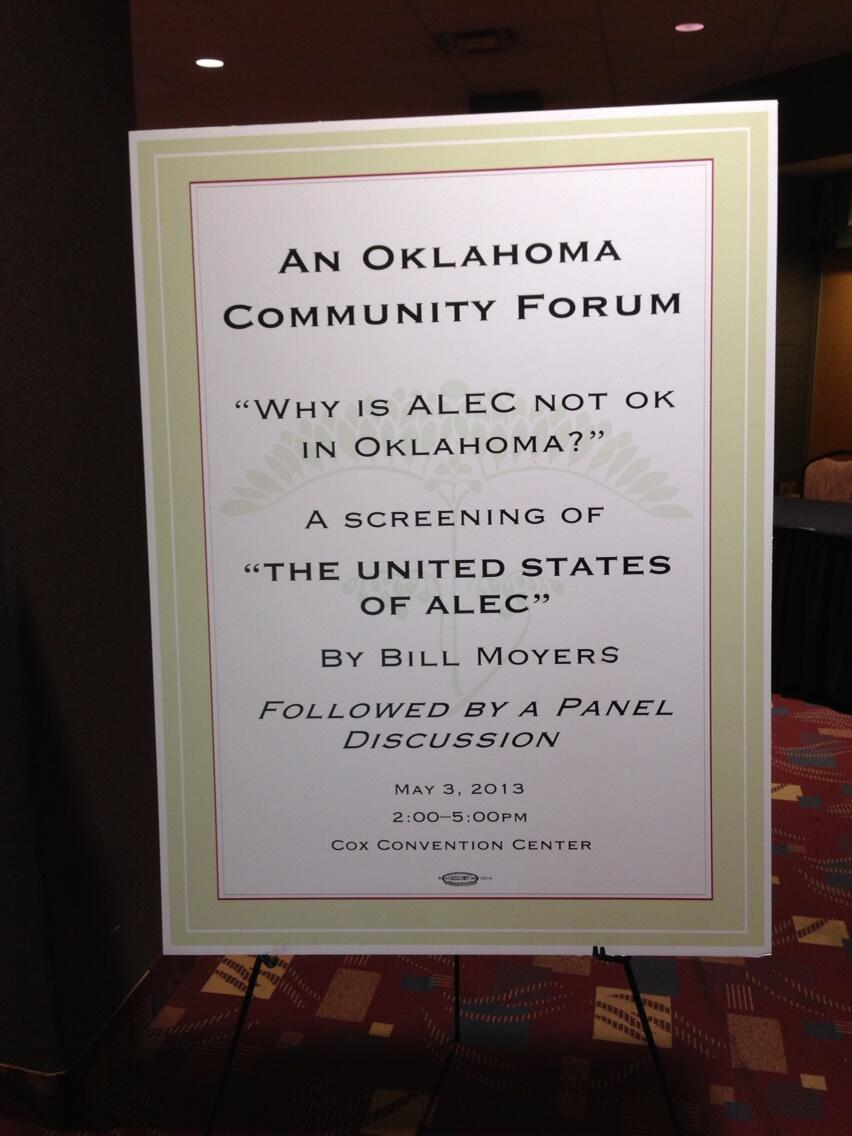 RT @NickSurgey: Next door to the #ALEC conference, OK community pushes back. #ALECExposed http://t.co/smiaXkrzUN
