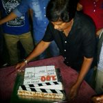 Dir Krishna Vamsi garu cutting the 100 Yrs of Indian Cinema Cake...
