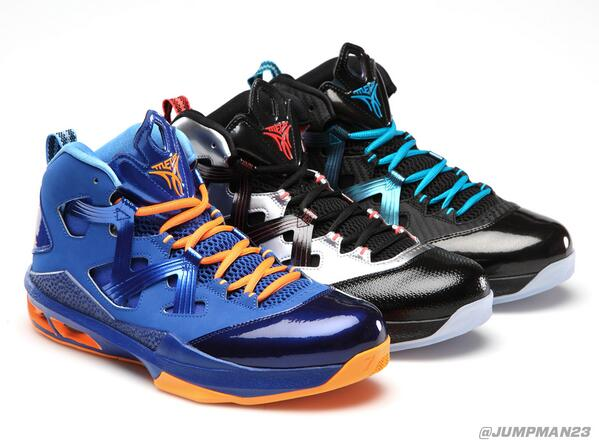 Check the 3 most recent styles of @carmeloanthony's M9, including the 'Game Royal/Bright Citrus' he has on tonight: http://t.co/zr9Mak0Wyn