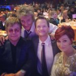 I got sandwiched between Elton John, Rod Stewart, and @MrsSOsbourne and I loved it! Amazing night for #racertoeraseMS