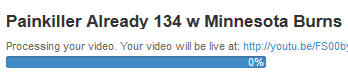 "The PKA upload is finished. Now youtube processes it.  It's sitting at 0% and not moving. :) Maybe 2 hours from now? <a class=""linkify"" href=""http://t.co/enpElUGV2G"" rel=""nofollow"" target=""_blank"">http://t.co/enpElUGV2G</a>"