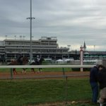 RT @DylanDreyerNBC Cloudy skies over Churchill Downs. Rain a little later and not too heavy #watchingradar