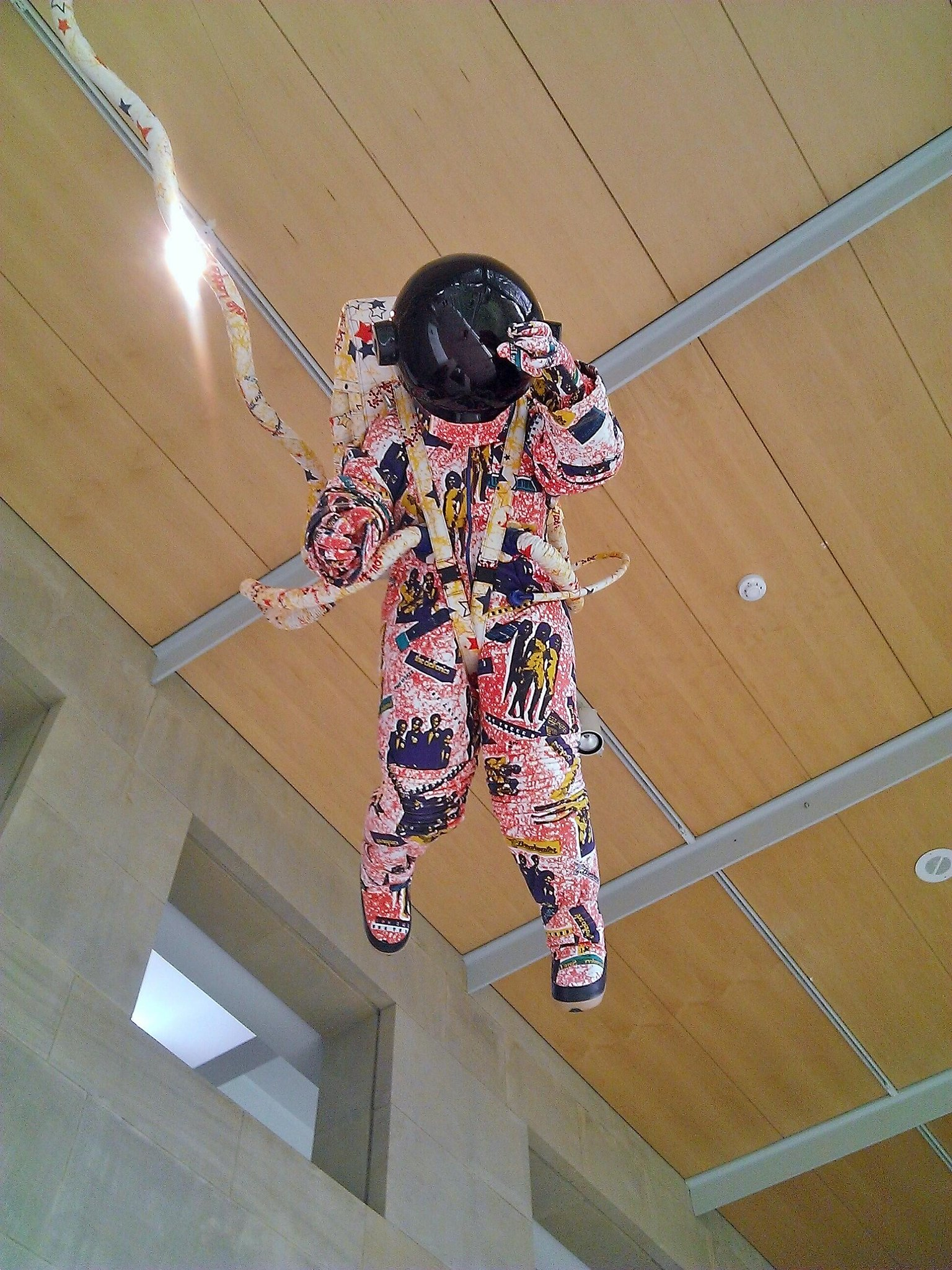 RT @MissObina: It's an Afronaut! By the brilliant Yinka Shonibare MBE @YSPsculpture. NASA outfits designer, please take note http://t.co/TNHsCv8HeL