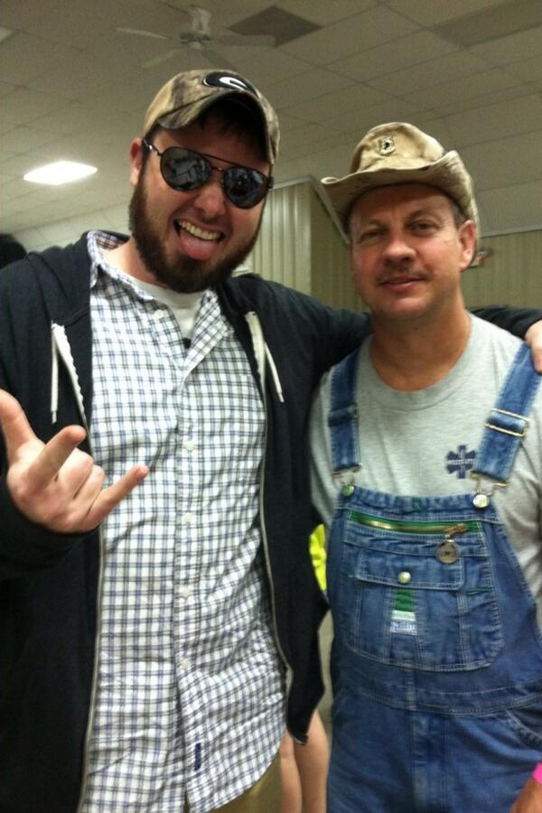 Kickin it with Tim from Moonshiners. http://t.co/pJ8q7slzeM