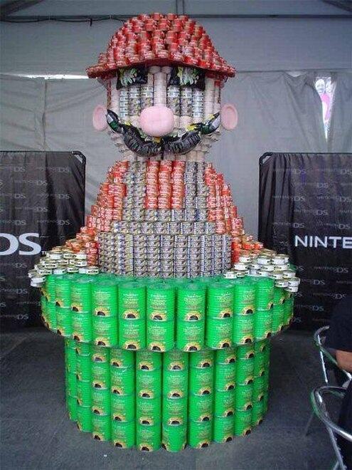 RT @Ti__Ta: Mario écolo, il recycle boîtes de conserve et canettes #Mario #Nintendo http://t.co/1MBBNKTpzT