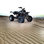 The machine I was on today in the desert outside Muscat. Some serious torque.. #quad #Bajje #Khallas