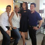 Xo! RT @danieldeleno: Today Glam squad hair@carlabone Makeup@danieldeleno style@TheStyleBaron w/@GiulianaRancic Fun!
