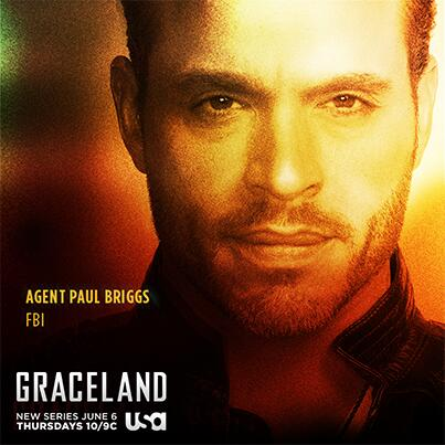 Meet Agent Paul Briggs (@DanielGRACELAND). RT if you're ready to enter the world of #Graceland on June 6th. http://t.co/7CxQtK7vSg