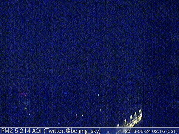 Now Beijing PM2.5 is 214 AQI 中度汚染 - Very Unhealthy