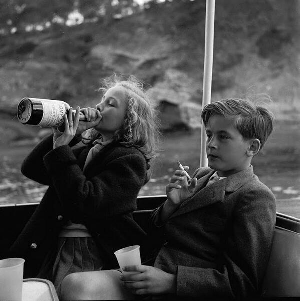 Photo of the day: Princess Yvonne & Prince Alexander, 1955 http://t.co/npsIIPOq9v
