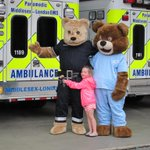 Dr. Beary Goode from @CHFHope had a beary good friend visit today from Middlesex-London EMS! http://t.co/9j44RPejPr