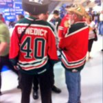 "RT @bnewts58: ""@EastlinkDanR: Moose fans here at the CUC. Hard to go wrong with that jersey. http://t.co/9NPrQM9uoE"" @NicWMoran  u know that guy?? Lol"
