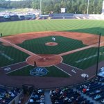 A view from the booth here at Hoover Met.  Our broadcast from Hoover Met can be heard here in the stadium on 107.3 FM http://t.co/k28eDdn574