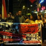 Pic from #TripoliLB now. Civil society rallying in the streets against war & weapon use.  Shame on the politicians! http://t.co/aIbrXNYXbu
