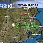 This cell over NE CT is producing frequent lightning. Tracking southeast, likely crossing I-395 by 4PM then NW RI. http://t.co/DWT2EMIxFF