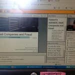 RT @romneysmith: Taking a webinar from @BizJournalism on investigating shell companies & fraud! #TVnews