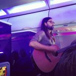 The bright light social hour performing live on our flight to Austin @VirginAmerica  #vxaus