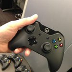 I'm holding the new Xbox One controller in my hand. Feels nice. #xboxone