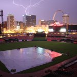 Last nights stormy skies from Busch. #stlwx http://t.co/noRWZYpnAW