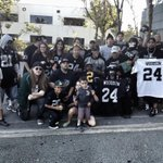 """@RAIDERS: The Raiders fans still at headquarters for the Charles Woodson announcement. http://t.co/PAkBbTVOvH"" the only fans they have"