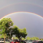 WOW! Spectacular double rainbow over East Medford and the Rogue Valley. 7:55 PM. http://t.co/2WoaX5i7fJ