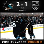 #SJSharks win! Series tied 2-2. #BeatLA http://t.co/kOTPlWidHx