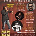Today is the last day for ComedyBah 24 & 25th May pre sale ticket price at RM50! Get your tickets ASAP! @KKcity http://t.co/Ld4COpsLll