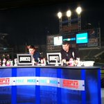 #Wahoo RT @Indians: .@MikeandMike getting ready for todays live broadcast from Progressive Field! http://t.co/lHEcDOeeSU