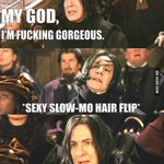 """@9GAG: Sexy slow-mo hair flip http://t.co/Hjj80bEfP6"" @Little_Charls jajajajajaj"