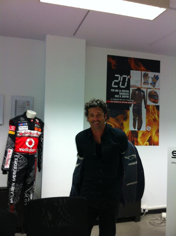 Here's a pic of Patrick #Dempsey in our headquarter! http://t.co/oOHPV0hUEK