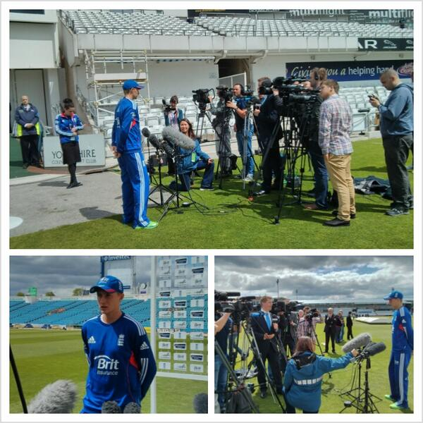 It's getting close 2 days to the start of Test Match & @joeroot05 speaks to the world's media. Don't miss out. http://t.co/b9dmkJYugj