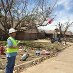We are walking through some of the worst damaged areas http://t.co/0ih8Xo98pe