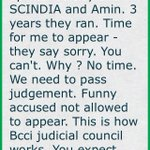 I was crucified. Enquiry done. Committee set up with Jaitley and SCINDIA and Amin. 3 years they ran. (cont)