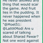 He was most unbiased leader. He never allowed any thing that would scar the game. And fruit lies in (cont)