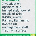 Investigation agencies shld immediately look at emails of Srini, KASHi, sunder Raman, Raman his (cont)