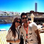 Representing the Indian dance community at @IMSibiza.. @Pearlofficial and @hermitsethi from @Submergemusic #IMSIbiza