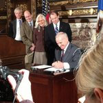 RT @CharBriner: And the historic E-12 bill becomes law! #Progress #betterMN http://t.co/aFGI4ERfs2