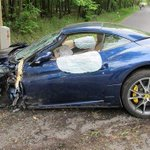 Heres a picture of Voraceks wrecked Ferrari. #Flyers http://t.co/4c5snZgryo